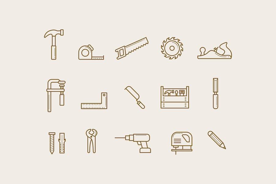 15 Carpentry Icons