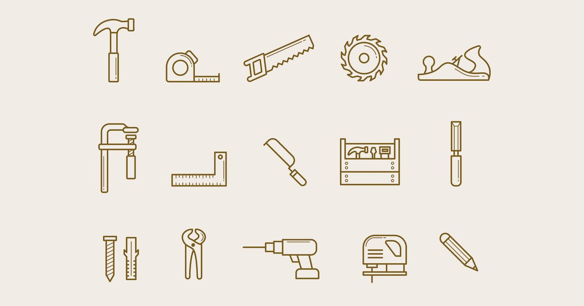 Download 15 Carpentry Icons by creativevip