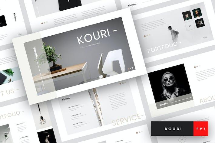 Thumbnail for Kouri - Минимальный Шаблон PowerPoint