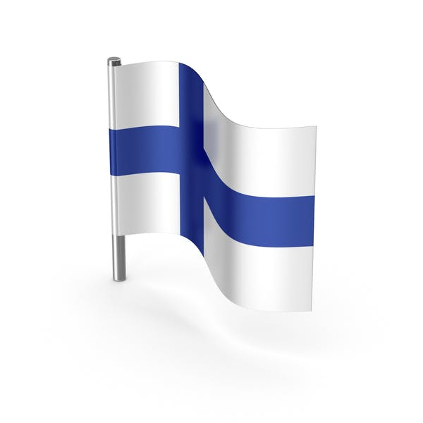 Finland Cartoon Flag