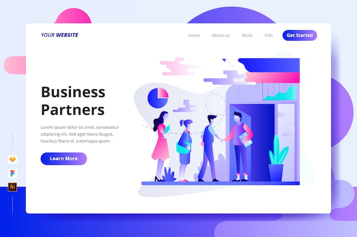 Thumbnail for Business Partners - Landing Page