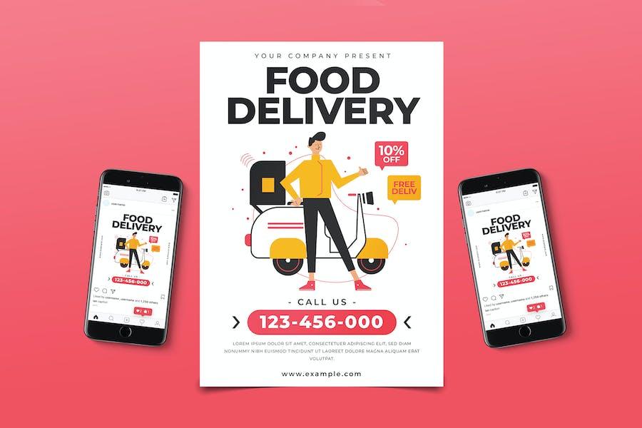 Food Delivery Flyer Pack