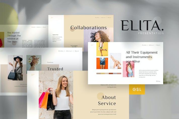 Thumbnail for Elita - Lookbook Google Slides Template