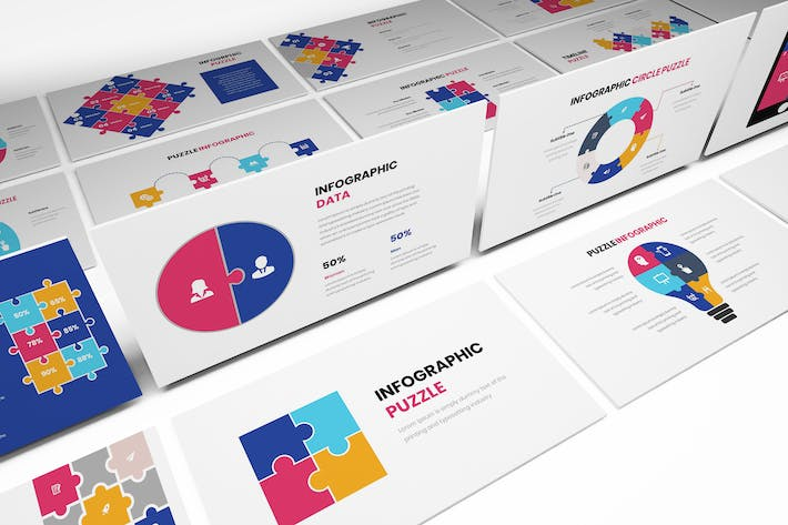Thumbnail for Puzzle Infographic Powerpoint Template