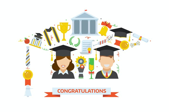 Thumbnail for Graduation Day Hat Stylized Print