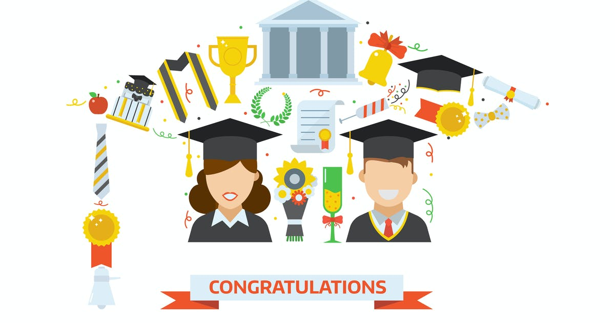 Download Graduation Day Hat Stylized Print by krugli