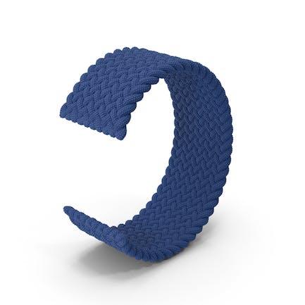 Blue Braided Solo Loop