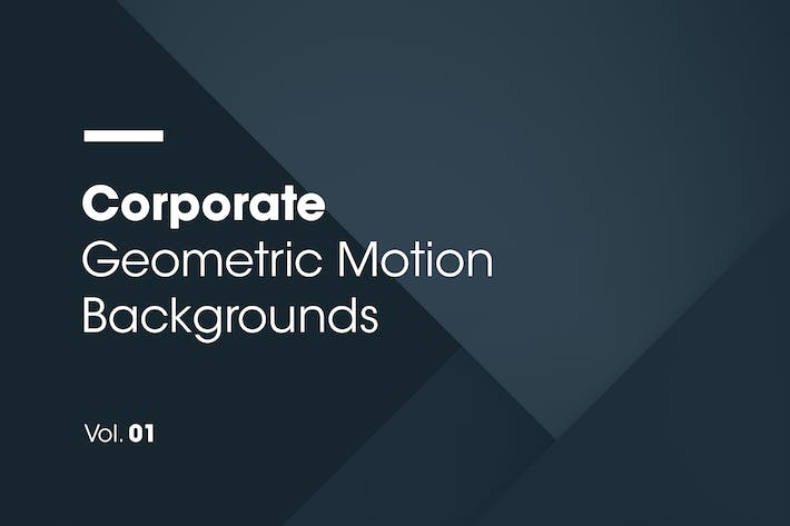 Thumbnail for Corporate | Geometric Motion Backgrounds | Vol. 01