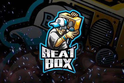 Beat Box E-Sport and Sport Logo Template
