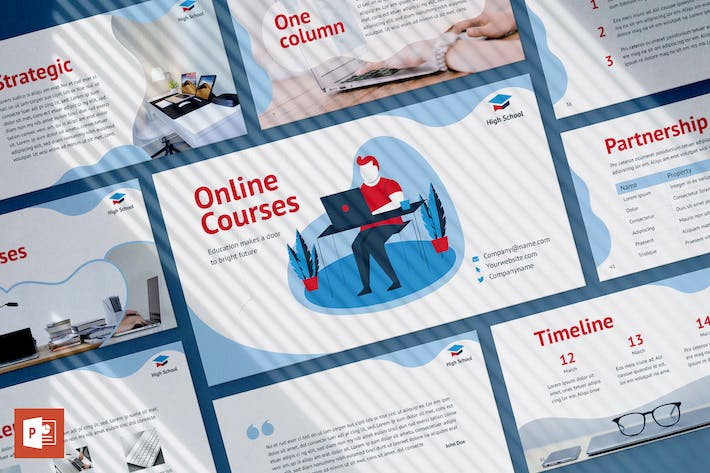 Thumbnail for Online Courses PowerPoint Presentation Template