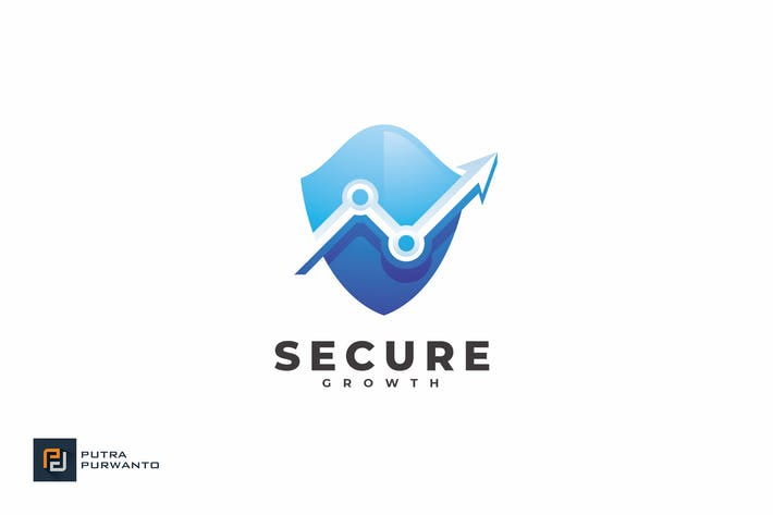 Thumbnail for Secure Growth - Logo Template