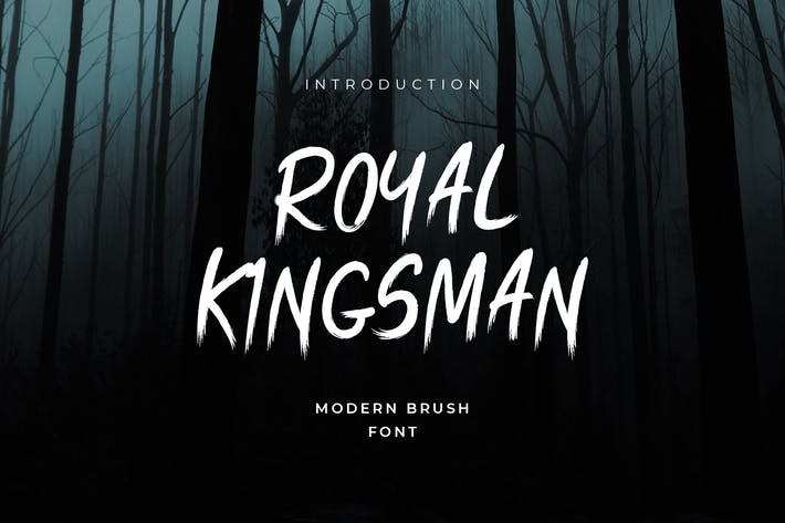 Thumbnail for Royal Kingsman Handbrush Typeface