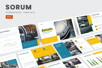 Sorum – Trustworthy Car Dealer PowerPoint Template