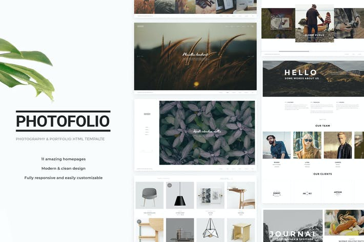 Thumbnail for Photofolio - Photography & Portfolio HTML Template