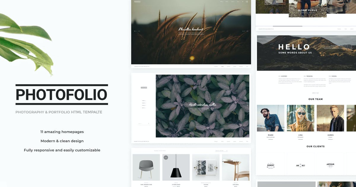 Download Photofolio - Photography & Portfolio HTML Template by Nunforest