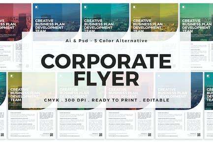 Multicolor Corporate Flyer