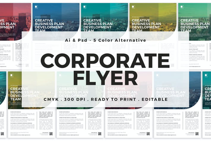 Thumbnail for Multicolor Corporate Flyer