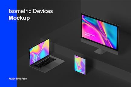 Isometric Devices Mockup
