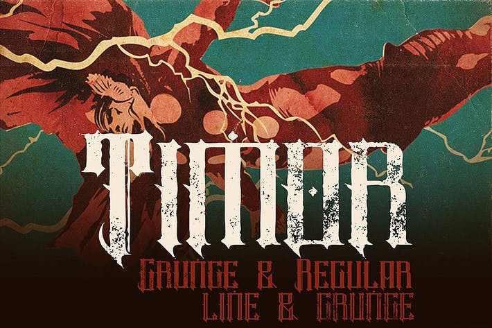 Thumbnail for Timor - Vintage Style Font