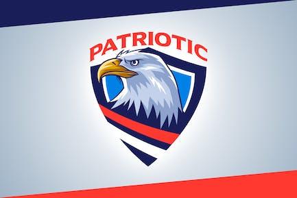 Patriotic - Bald Eagle Emblem Logo