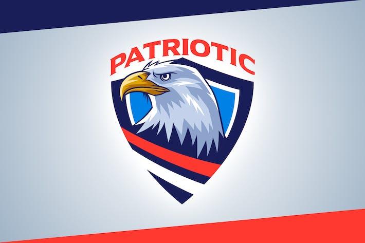 Thumbnail for Logo del emblema de águila calva patriótica