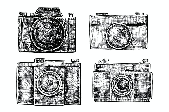 Thumbnail for Vintage cameras set