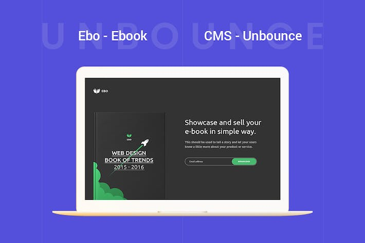 Thumbnail for Ebo - Шаблон Unbounce Ebook