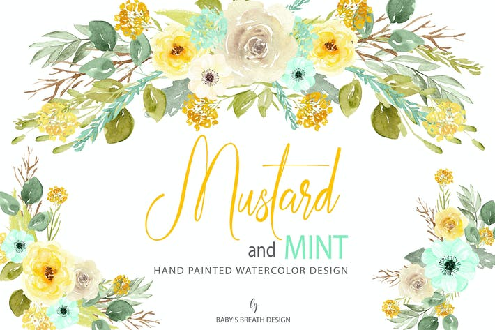 Thumbnail for Mustard and Mint design