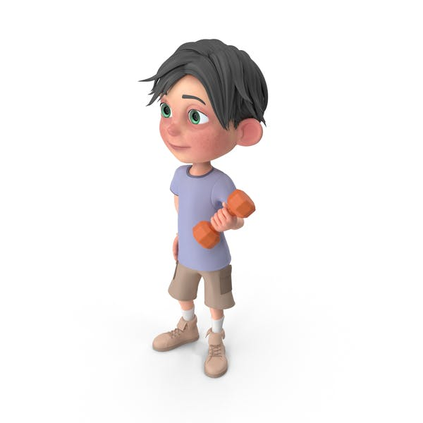 Cover Image for Cartoon Boy Jack Lifting Dumbbell
