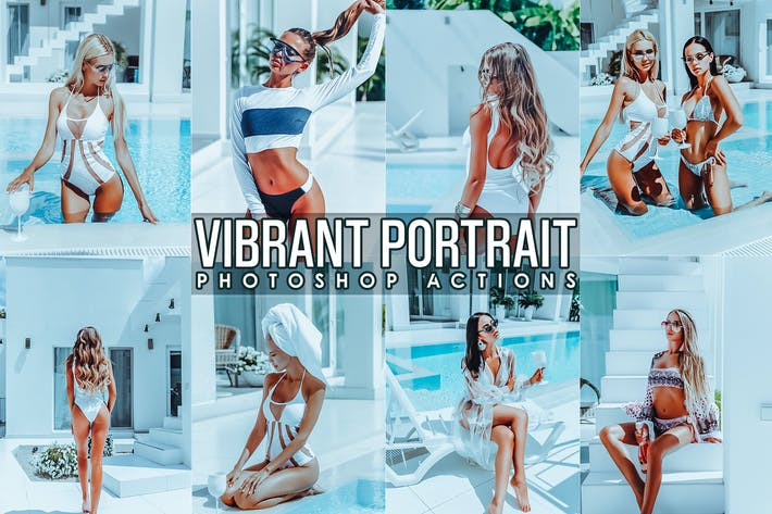 Thumbnail for Vibrant Portrait Photoshop Actions