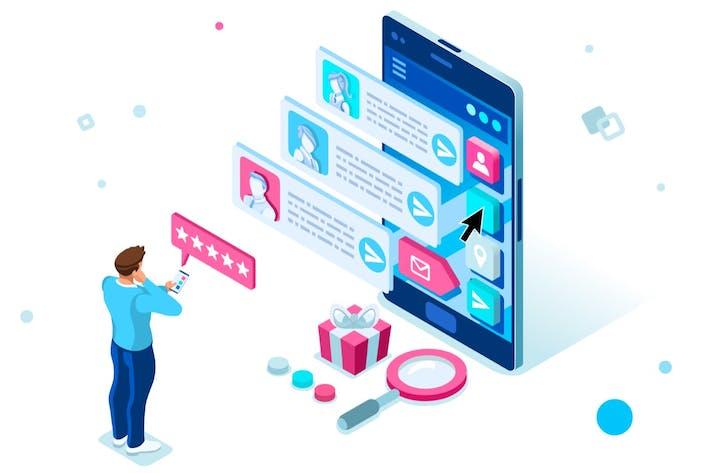 Service Agent Concept Smartphone Digital