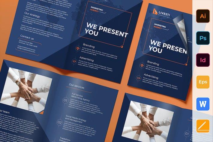 Thumbnail for Marketing Agency Brochure Bifold