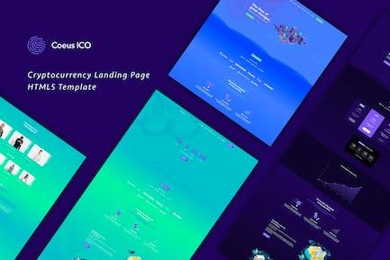 Coeus - Kryptowährung Landing Page HTML Vorlage