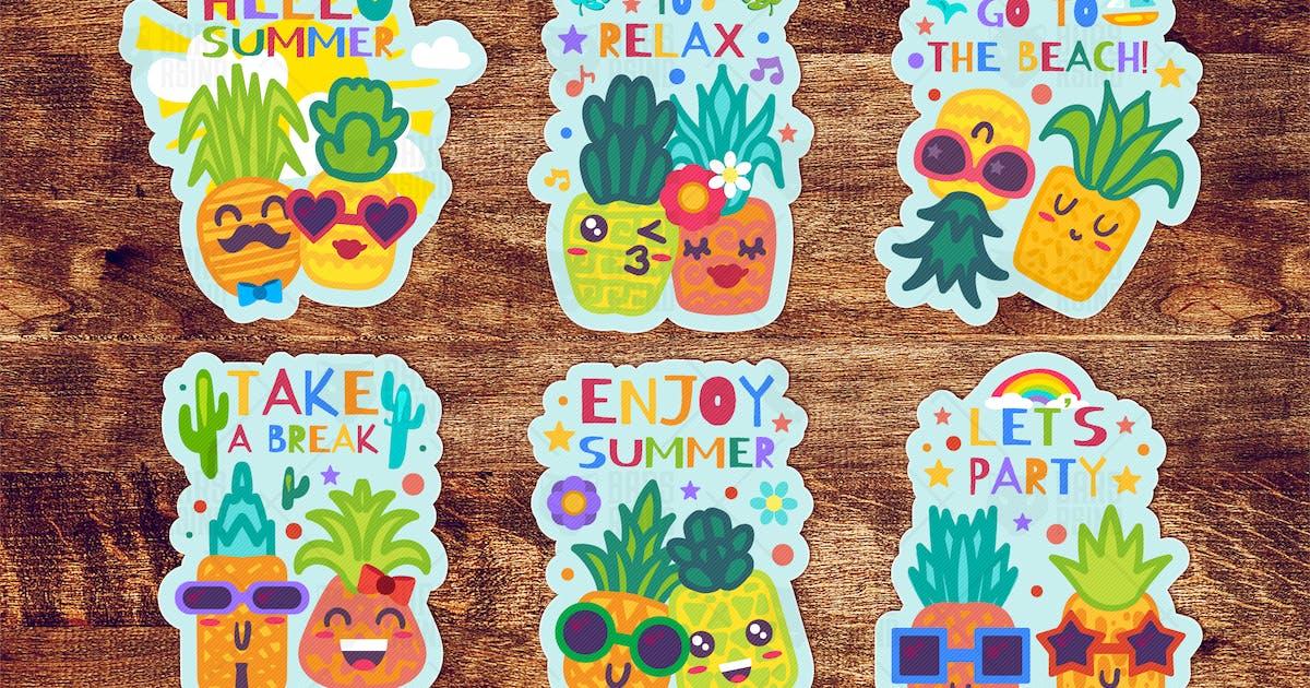 Download Summer Pineapples Labels Set by barsrsind