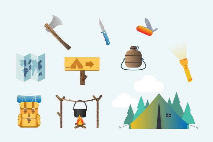 Thumbnail for Going Camping Clipart