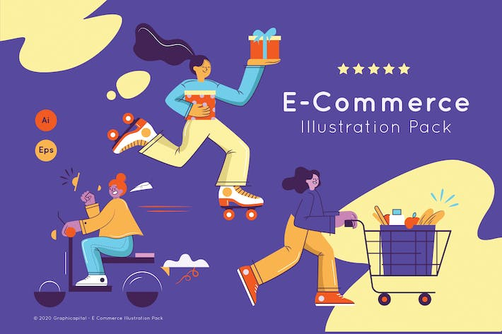 Thumbnail for Shopping Day Landing Page Illustration