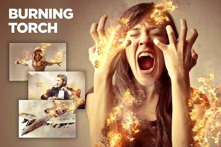 Burning Torch CS4+ Photoshop Action