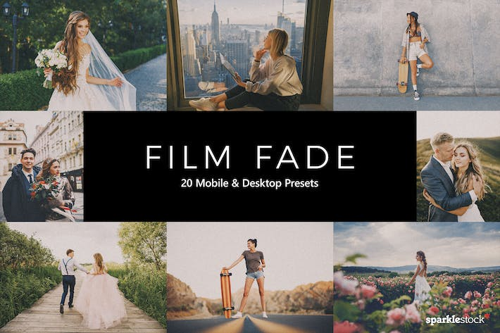 Thumbnail for 20 Film Fade Lightroom Presets & LUTs
