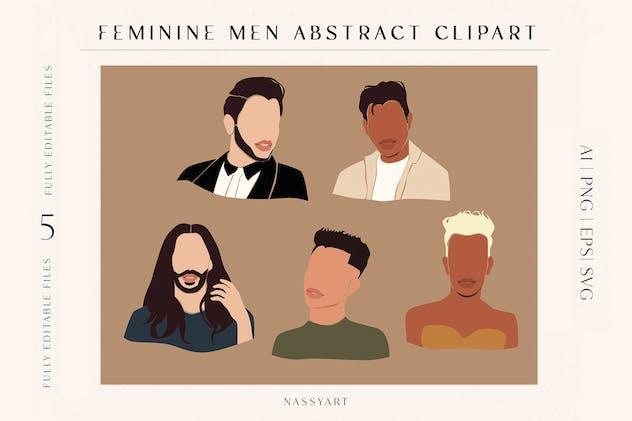 Feminine Man Clipart