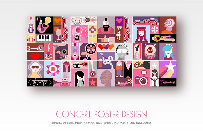 Thumbnail for Concert Poster design vector illustration
