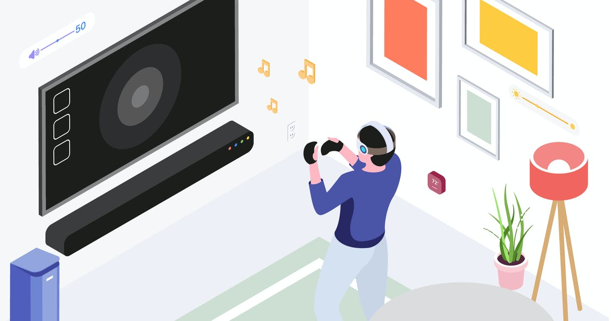Download Smart Things with VR AR Isometric Illustration by angelbi88