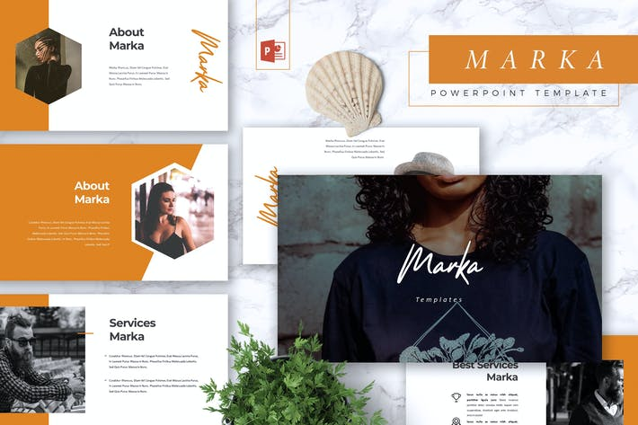 Thumbnail for MARKA - Company Profile Powerpoint Template