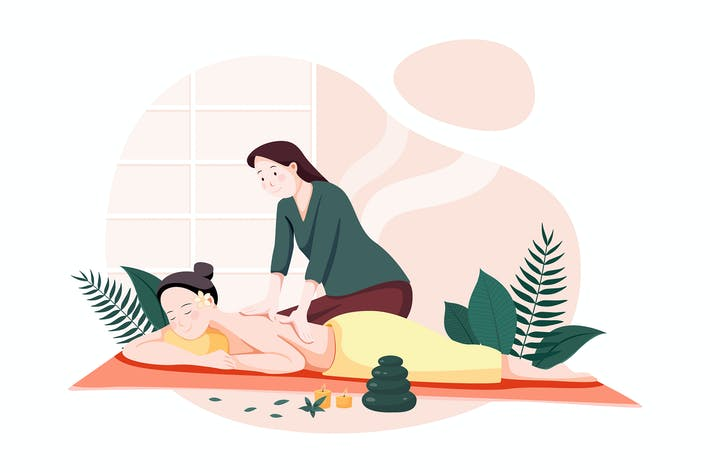 Thumbnail for Woman making massage for a young lady