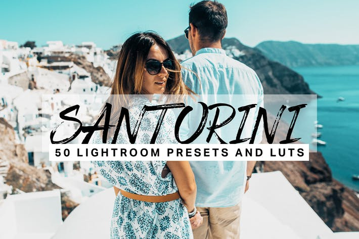 Cover Image For 50 presets y LUTs de Santorini Lightroom