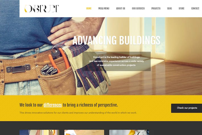 Thumbnail for Konstruct - Html Construction, Building And Busine