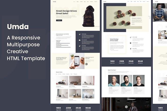 Thumbnail for Umda - Innovative Multipurpose Creative Template