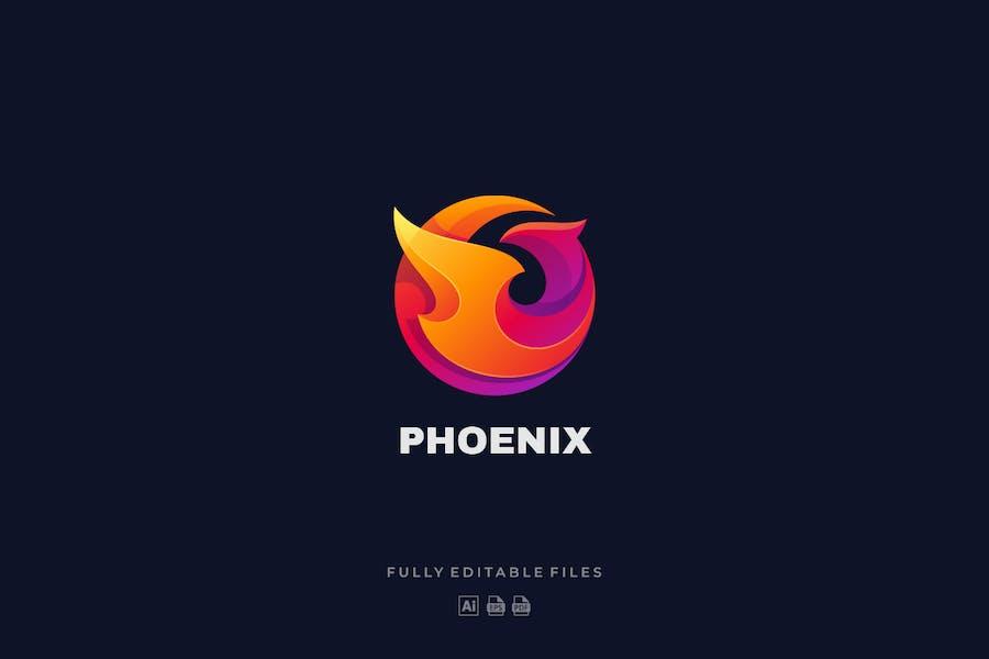 Bird Phoenix Colorful Logo