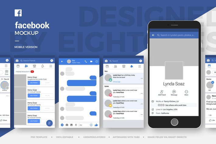 Thumbnail for Facebook Mobile Mock-Up Template