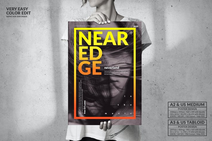 Thumbnail for Near Edge Music Party - Big Poster Design