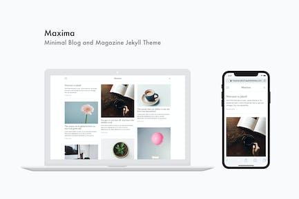 Maxima - Minimal Blog und Magazin Jekyll Thema